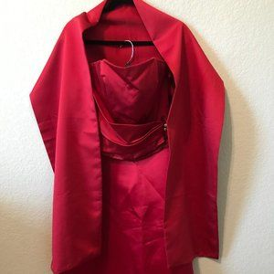 Red 3-Piece Gown
